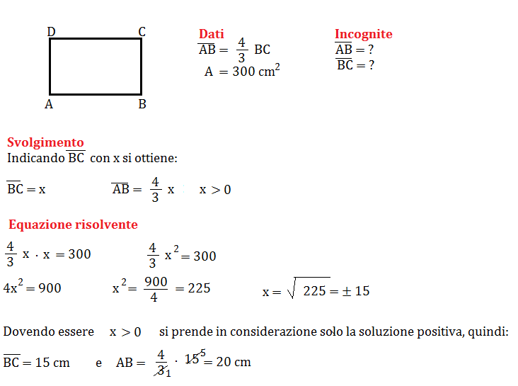 problema con equazione