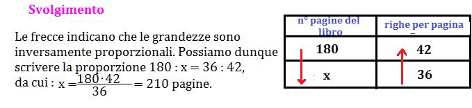 Problemi del tre semplice inverso, matematica seconda media