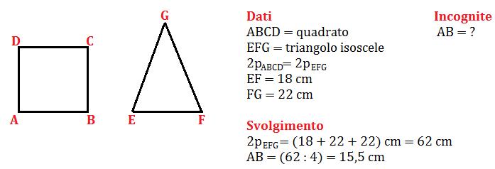 quadrato e triangolo