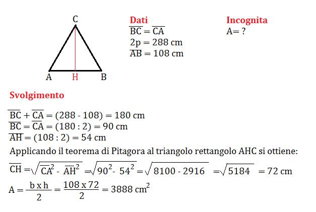 pitagora al triangolo isoscele