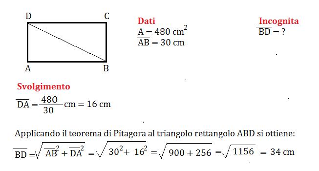 pitagora e rettangolo