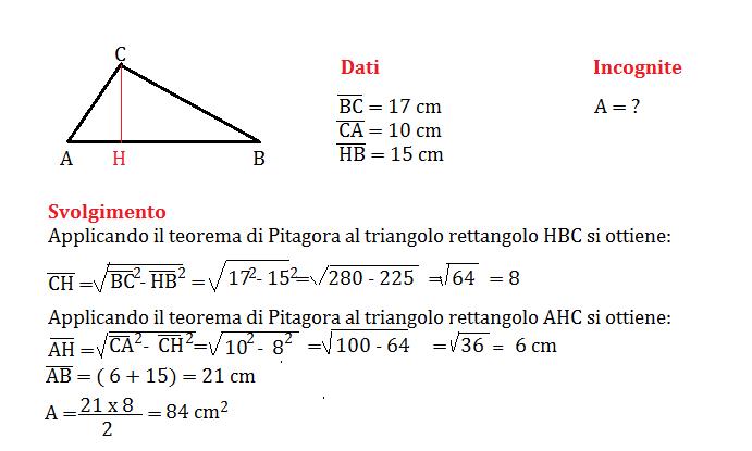 problemi con il triangolo