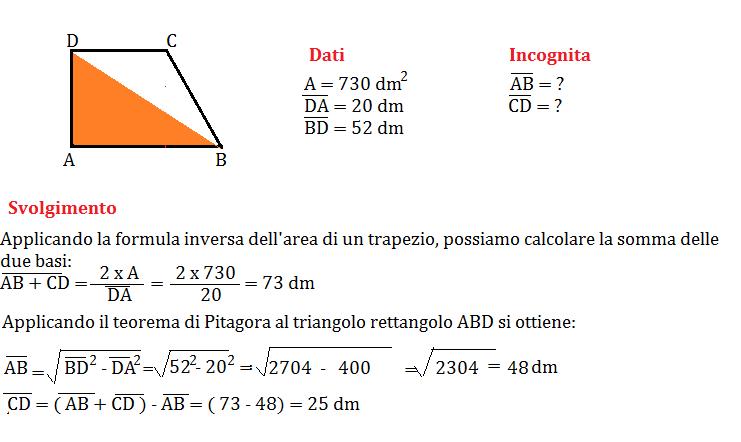 trapezio rettangolo con pitagora 3