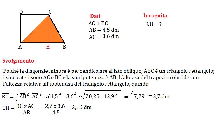 trapezio rettangolo con pitagora 4