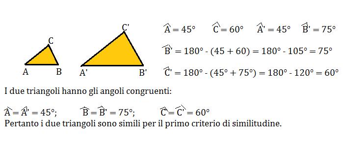 problemi triangoli simili