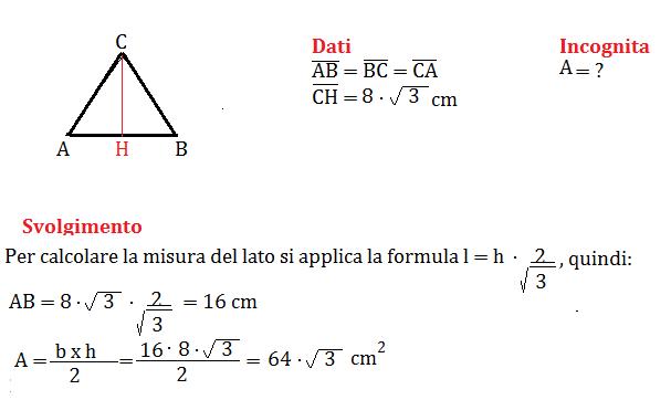 triangolo isoscele e pitagora 2