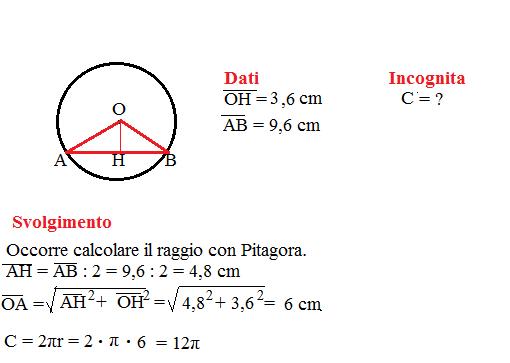 problema lunghezza circonferenza 8
