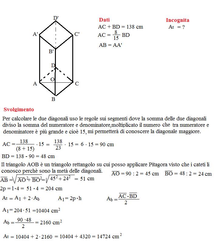 Problema sulla superficie dei prismi 10