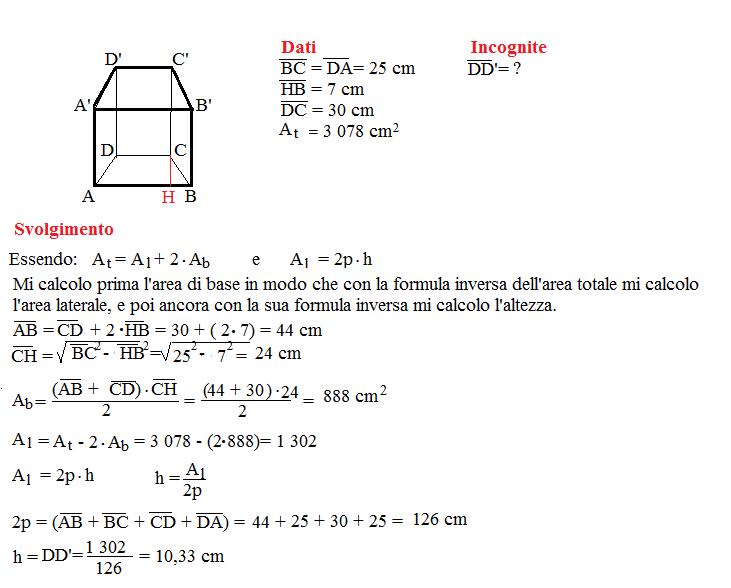 Problema sulla superficie dei prismi 11