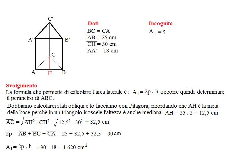 Problema sulla superficie dei prismi 2