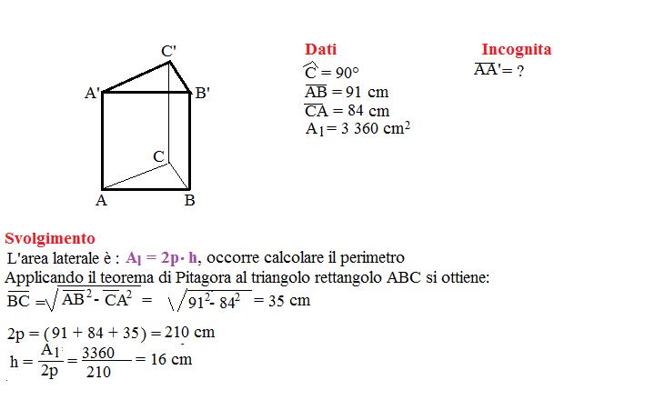 Problema sulla superficie dei prismi 3