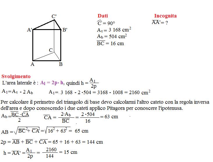 Problema sulla superficie dei prismi 4