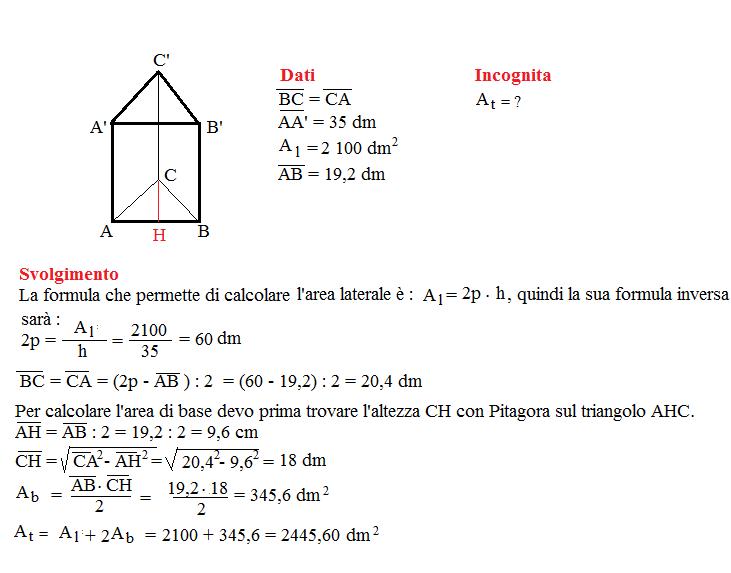 Problema sulla superficie dei prismi 5