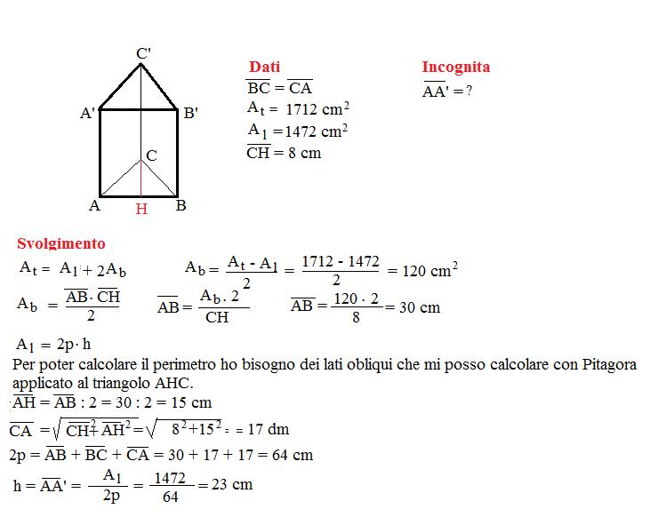 Problema sulla superficie dei prismi 6