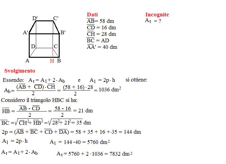 Problema sulla superficie dei prismi 7