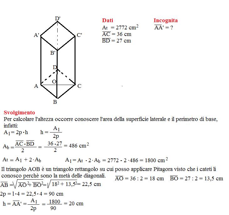 Problema sulla superficie dei prismi 8