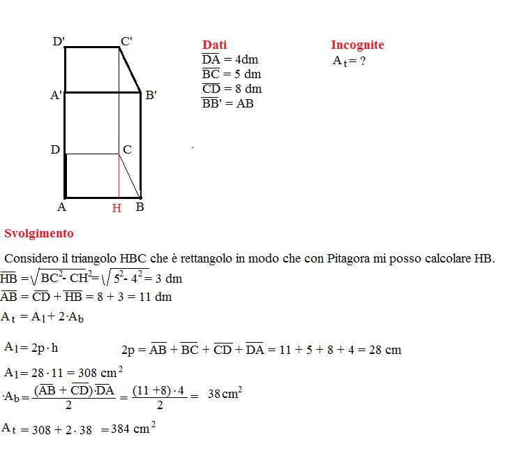 Problema sulla superficie dei prismi 9