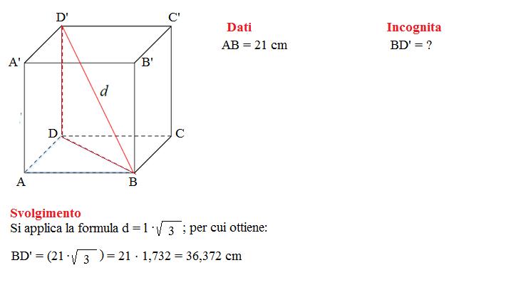 diagonale di un cubo