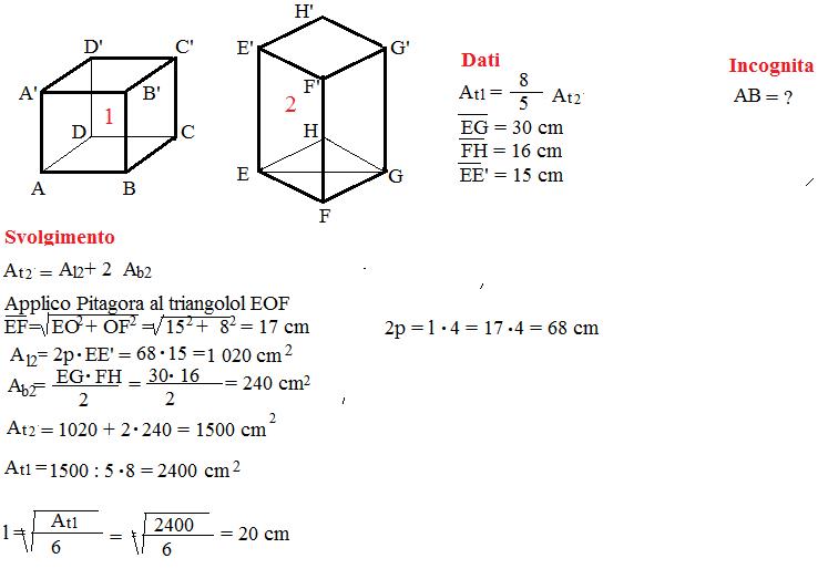 problemi superficie cubo 4