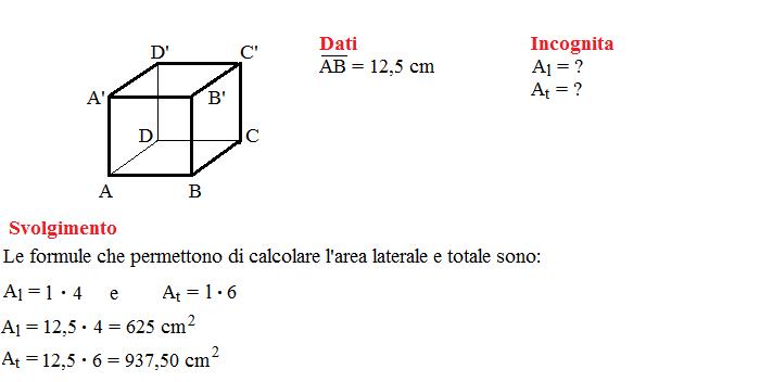 problemi superficie cubo