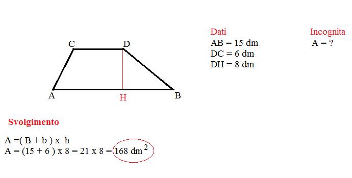 area trapezio 5