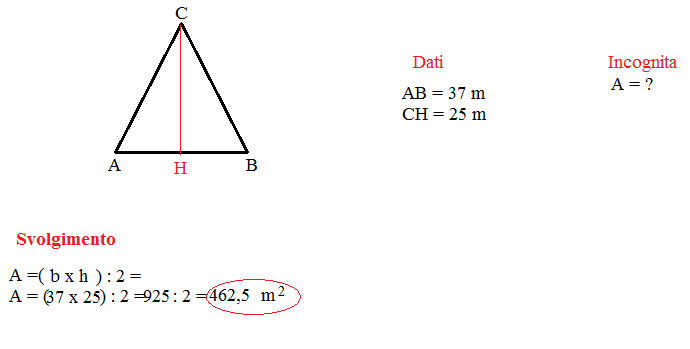 area triangolo 1