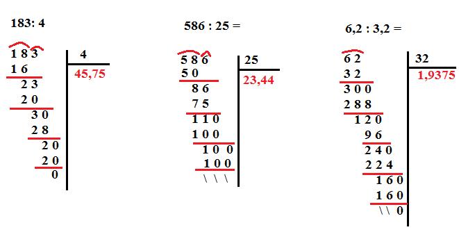 divisioni con i decimali 1