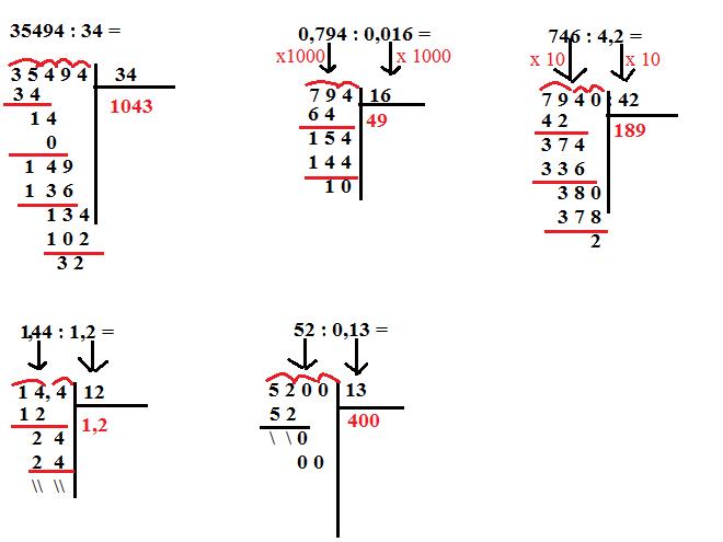 divisioni con i decimali