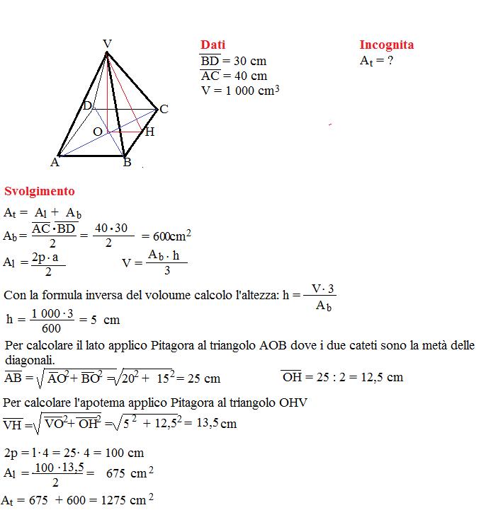 problema volume piramide