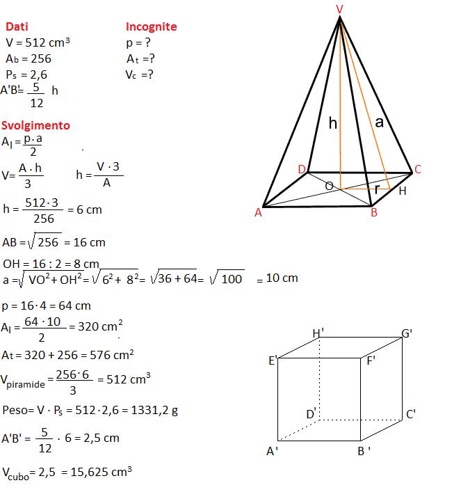 Compito esame terza media (7), con soluzioni e svolgimento