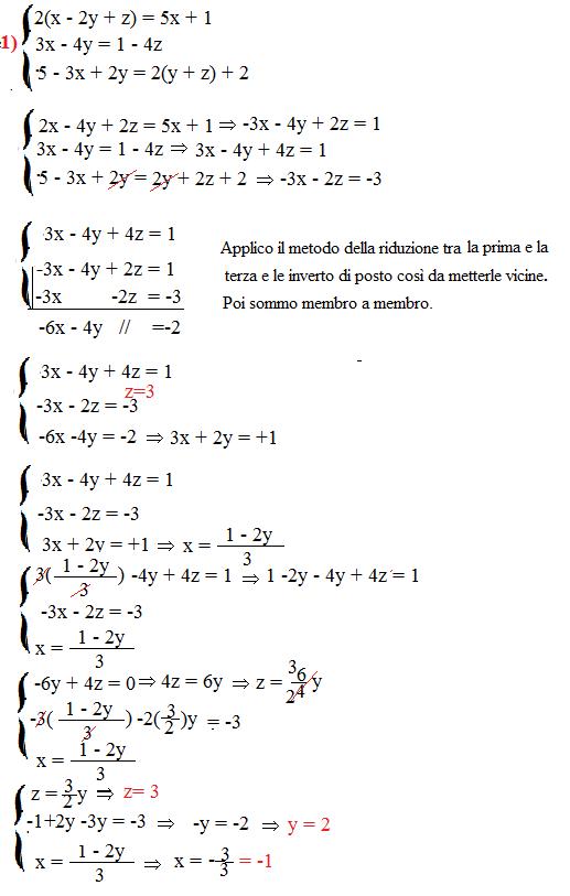 Esercizi sui sistemi a tre incognite, matematica secondo ...